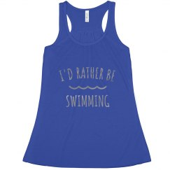 I'd Rather Be Swimming Metallic