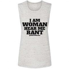 I Am Woman Muscle Tee