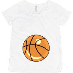 Basketball Maternity Tee
