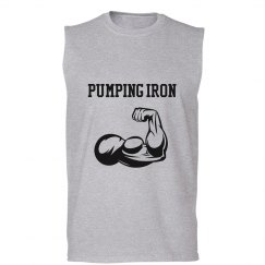 Pumping Iron Mens Sleeveless Tee