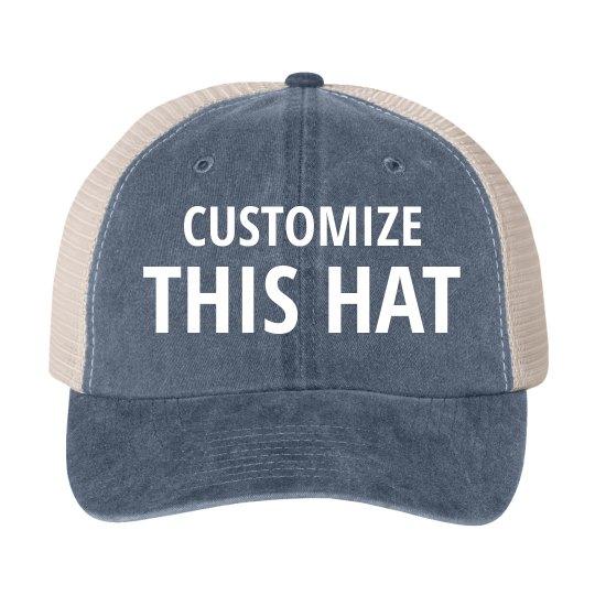 6b171943a35efc Custom Vintage Trucker Hats Cotton Twill Snapback Trucker Hat