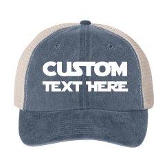 Custom Metallic Text Party Hat