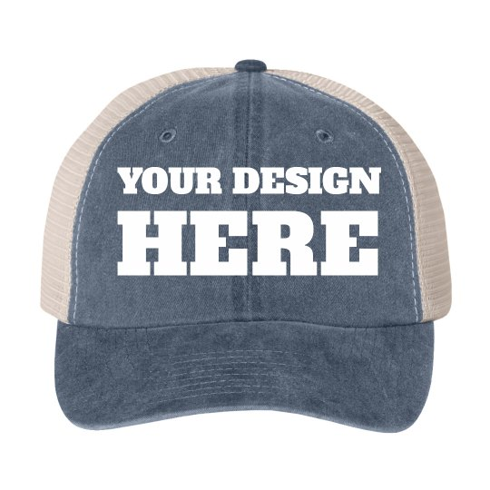 Personalized Vintage Hats For Group Cotton Twill Snapback Trucker Hat fe95eab8026