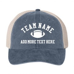 Custom Football Team Vintage Hat