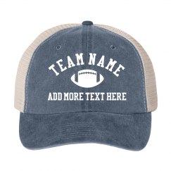 Custom Football Team Vintage Hat