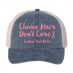 Custom Breast Cancer Fighter Hat