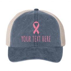 Custom Breast Cancer Charity Hat