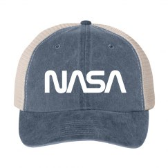 Vintage NASA Worm Logo Science Hat
