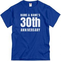 Simple Custom 30th Anniversary