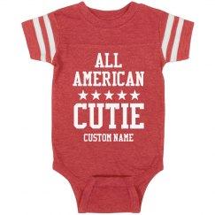 All American Cutie Custom Onesie