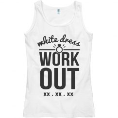White Dress Workout Tank