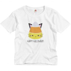 Halloween Candy Corn Cat Kitty Shirt