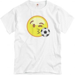 Soccer Smiley t-shirt wht