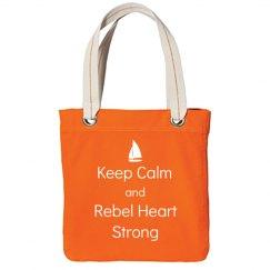 Keep Calm, Tote, Orange