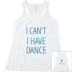 I have dance tank