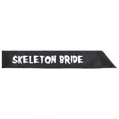 Skeleton Bride Sash