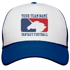 Custom Team Name Unicorn Fantasy Football Trucker Hat