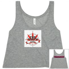 FNE Ladies Flowy Boxy Cropped Tank