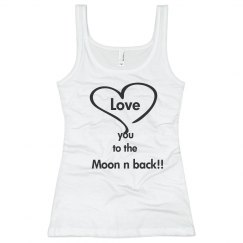 Love you to the moon top