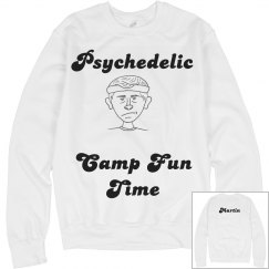 Psychedelic Camp Fun Time Crewneck