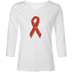 sequin red ribbon