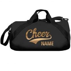 Metallic Gold Cheerleader Add Name