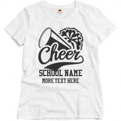 Custom Cheerleader School Name
