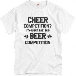 Cheerleader Dad Beer Competition