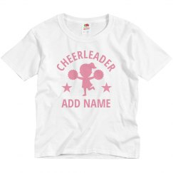 Little Girl Cheerleader Custom Name