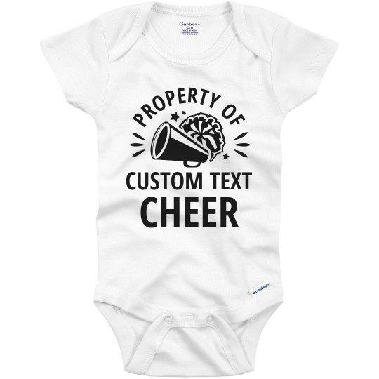 Dress Baby Girl Monogrammed Cheerleader Onesie Personalized Romper Shirt
