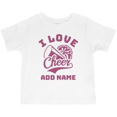 Toddler Cheerleader Fan Custom Name
