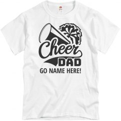 Custom Text Cheerleader Dad