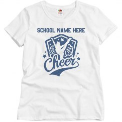 Custom School Name Cheerleader Mom