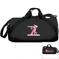 Monogrammed Z gymnast bag