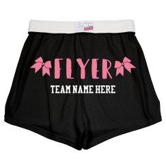 Cheerleader Flyer Custom Shorts