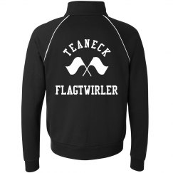 FLAGTWIRLER ZIP UP FLEECE BLACK/WHITE
