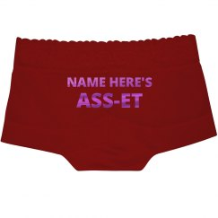 Metallic Name Here's Asset Lace Undies