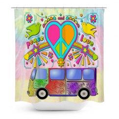 Hippy Love Bus Sixties Art