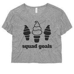 Ice Cream Squad Goals Funny Crop