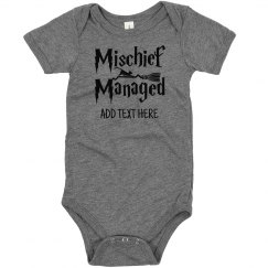 Custom Baby's Mischief Managed