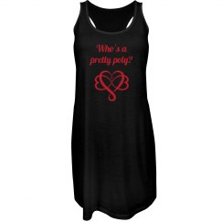 Pretty Poly- Black Tank Dress Red ink variant