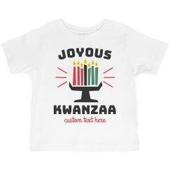 Joyous Kwanzaa Toddler Tee