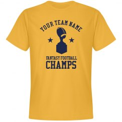 Personalized Your Team Name Fantasy Football Champs Tee
