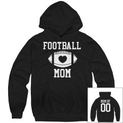 Custom Football Mom Fleece With Name Number