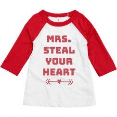 Mrs. Steal Your Heart Toddler Raglan