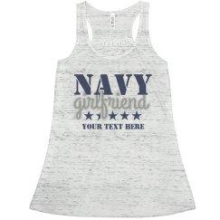 Navy Girlfriend Custom Flowy Tank