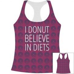 I Donut Believe In Diets Pattern