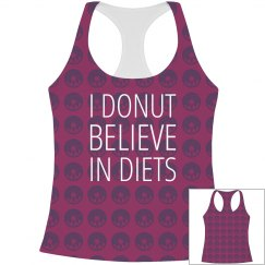 I Donut Believe In Diets Pattern