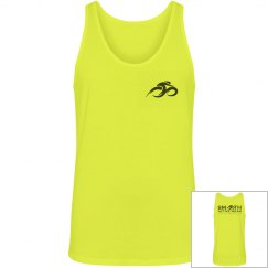 Smooth Active Wear Unisex Canvas Jersey Neon Tank Top