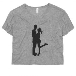 Silhouette boy and girl